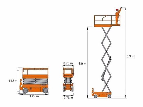 plataforma tijera elevacion alzahombre 6 mt consultar precio