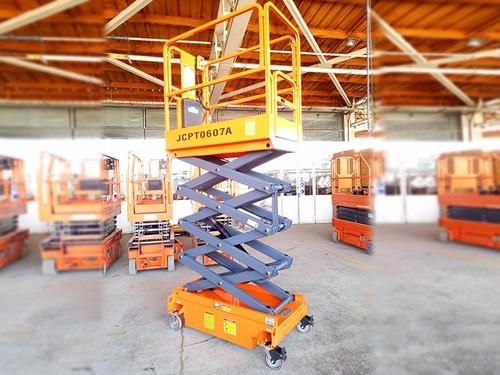 plataforma tijera elevacion alzahombre 6 mtr dingli motorman