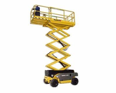 plataforma, tijera, elevadora certificada haulotte diesel