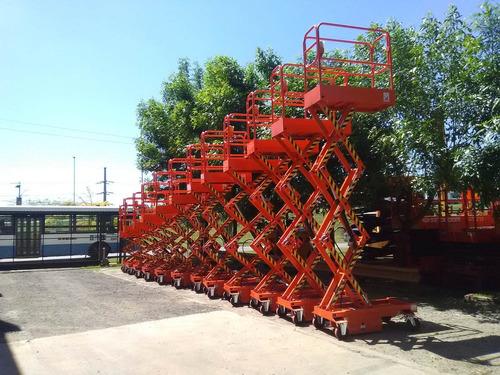 plataforma tipo tijera de empuje. alt 4.55m de trab. nueva