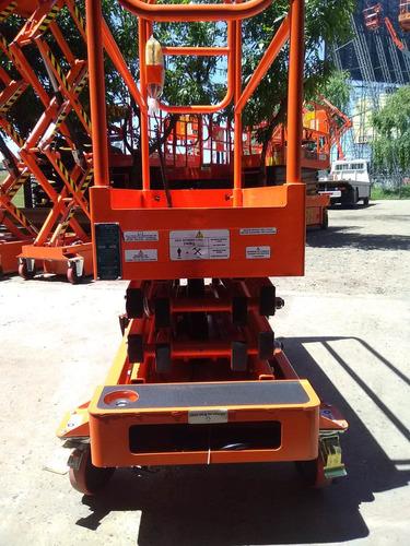 plataforma tipo tijera de empuje. alt 5.50m de trab. nueva
