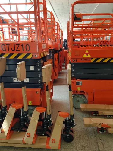 plataforma tipo tijera  electrica gtjz 08 (10 m altura) o km