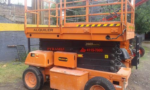 plataforma tipo tijera eléctrica jlg 3969e 4x2 alt 13.90m