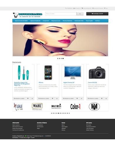 plataforma web de comercio electrónico ecommerce
