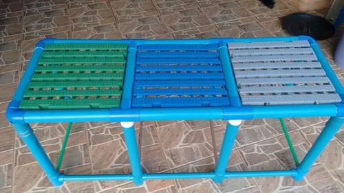 Plataforma mesa eleva o piscina crian as 140x50x50cm for Plataforma para piscina
