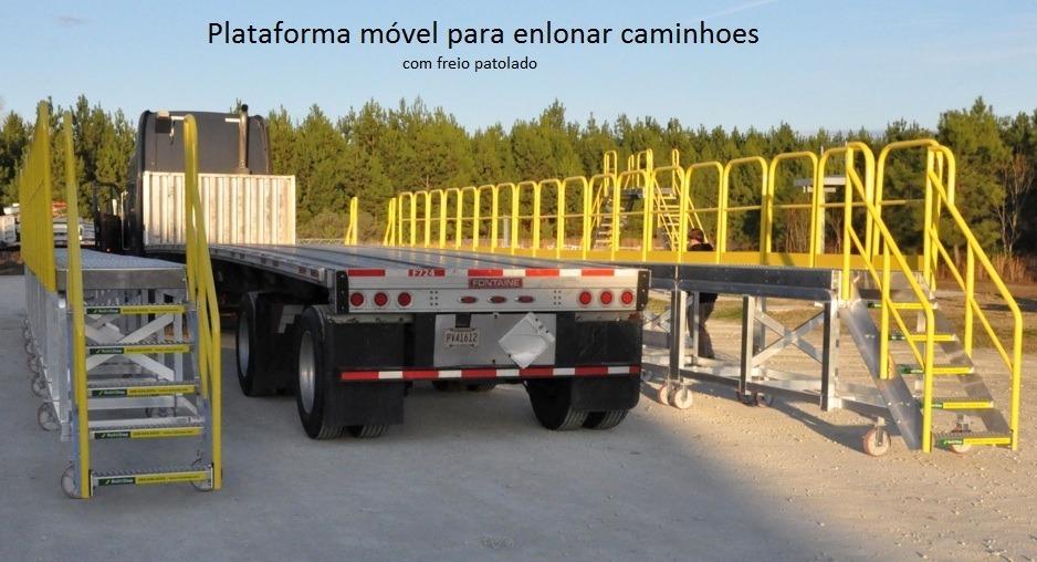 4756b95956450 plataformas de enlonar caminhoes com linha de vida com art. Carregando zoom.