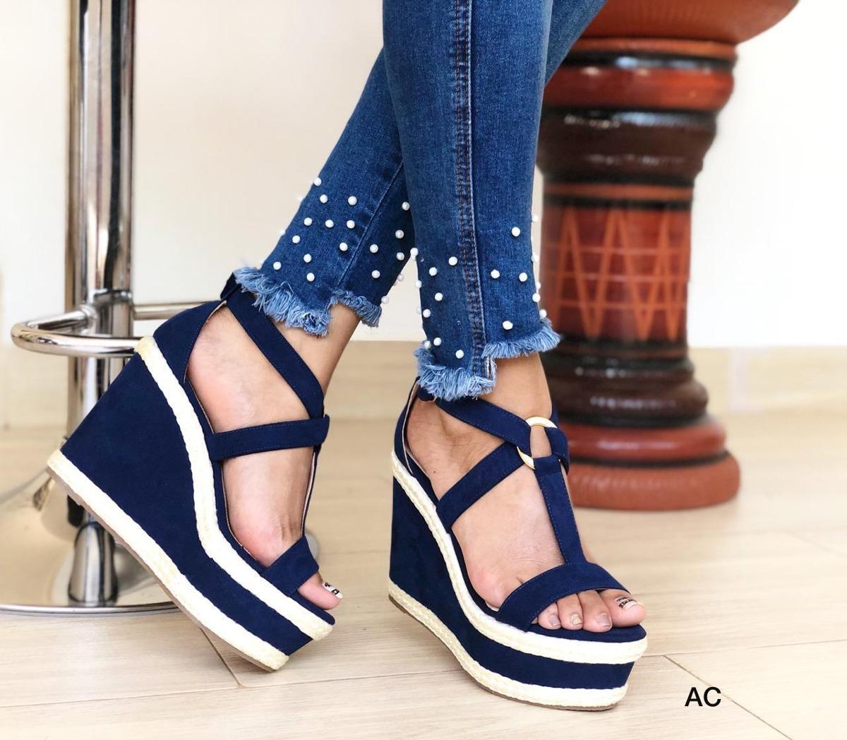 Mujer DamaElegante Moda Sandalias Calzado Plataformas Para n0PXwON8Zk