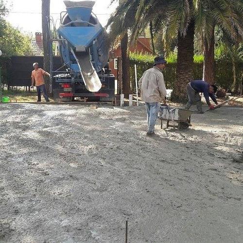 platea de hormigón movimiento de suelo