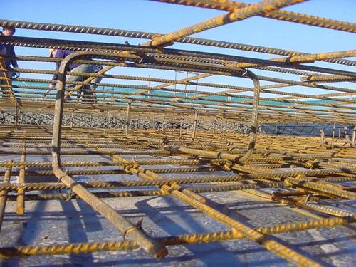 platea de hormigón, steel frame, hormigón, plateista