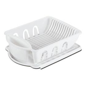 Platera Plastica Blanca Escurridor Platos Cubiertos Cocina