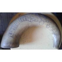 Antiguo Chifle Criollo De Guampa Grabado