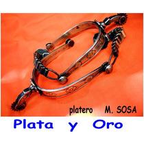 Espuelas Antiguas Plata Y Oro Plateria Criolla No Cuchillo
