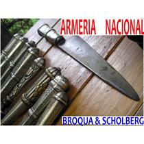 Cuchillo Armer. Nacional Plata Oro Antiguo Plateria Criolla