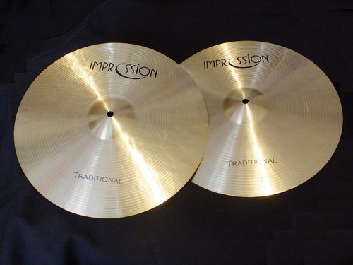 platillo hi hat impression traditional 15''