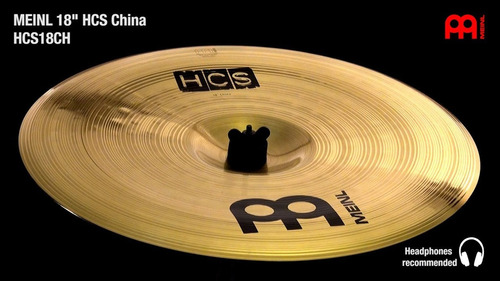 platillo meinl hcs 18 china
