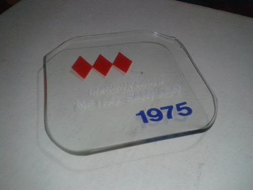 platillo vidrio inauguración metro gobierno militar