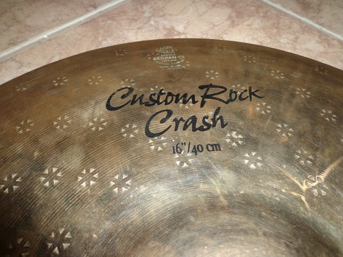 platillo zildjian z custom rock crash de 16  usado