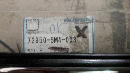 platina cepillo  puerta trasera izquierda accord 1990-1993