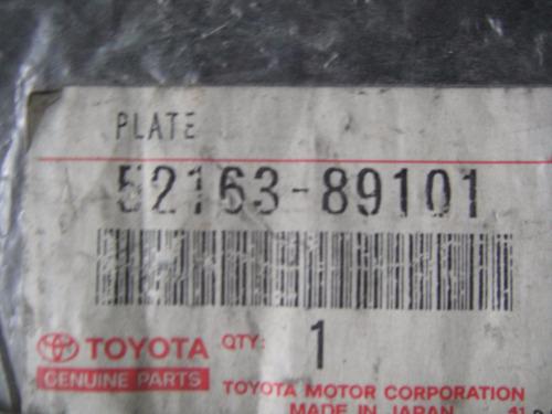 platina parachoque trasero derecho hilux 52163-89101