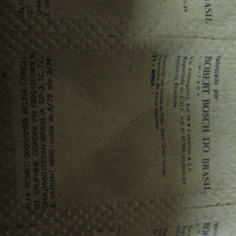 platinado bosch vw 1200 corcel 1 gt dauphine gordini tc sp2