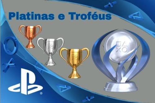 platinas e trofeus de jogos ps3 e ps4