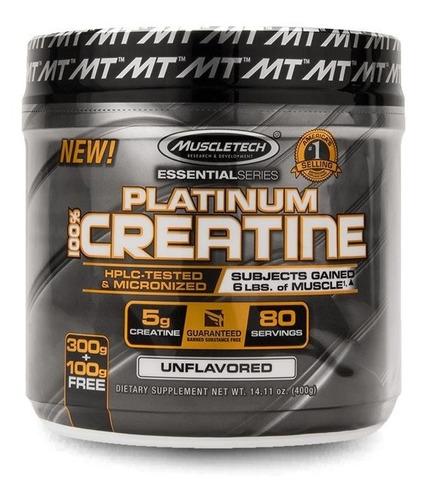 platinum 100% creatina micronized (400g) muscletech