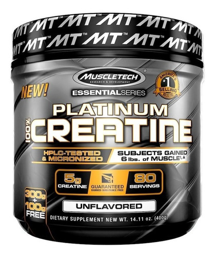 platinum 100% creatine - 400grs