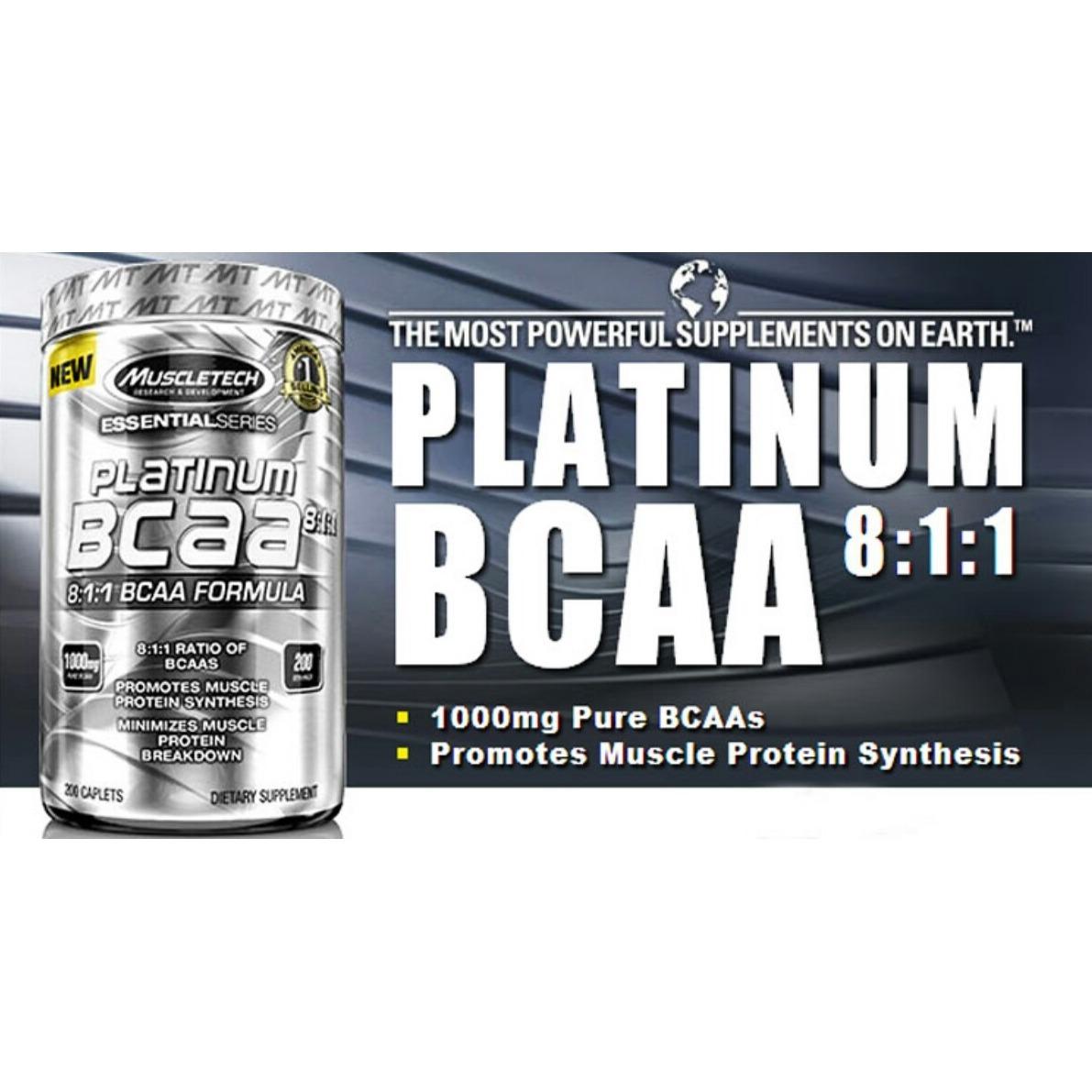 Platinum Bcaa 200 Ct Muscletech Recuperador Amino 811 168000 Essential Series Cargando Zoom