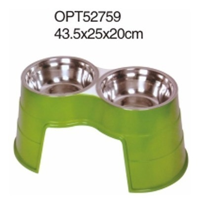 plato alto para perro 43.5x25x20cm