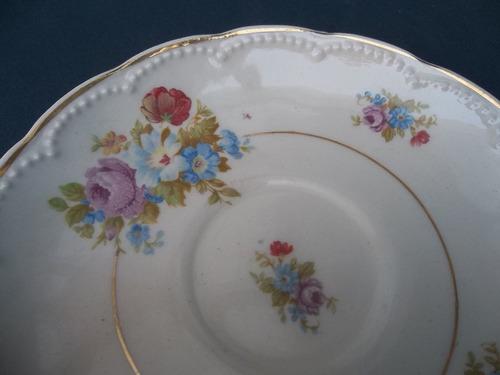 plato antiguo con ramo de flores ideal coleccionista