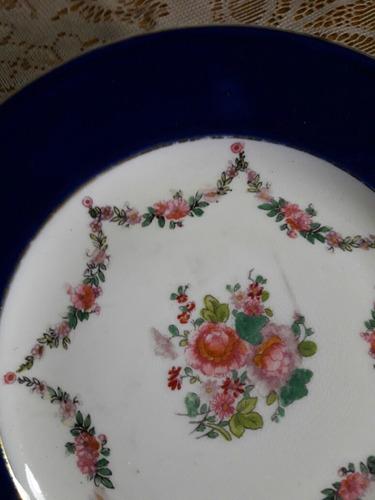plato antiguo en porcelana inglesa para decoracion