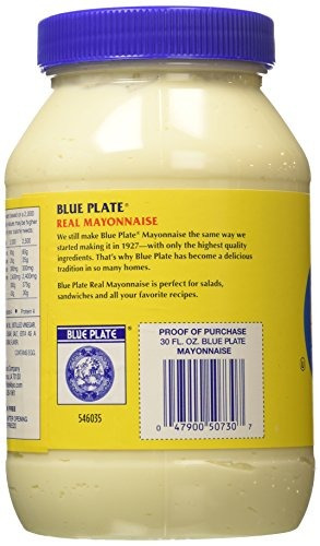 plato azul real mayonesa 30 onza