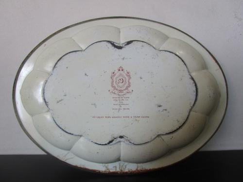plato bandeja metalico antiguo genuino england de coleccion