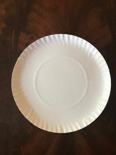 plato bandeja redonda nº 13 cartón blanco 22 cm  x100