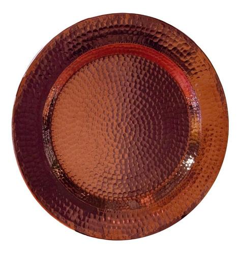 plato base de cobre martillado