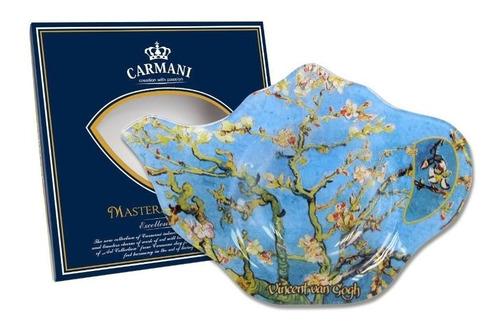 plato bolsa de te los almendros en cristal 13.8 x...