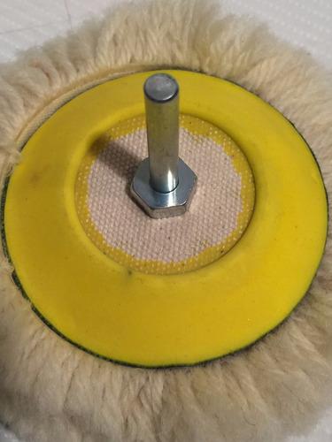 plato c/ velcro p/ adherir pad bonete pulido taladro 3 pul.