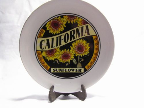 plato california sunflower decorativo