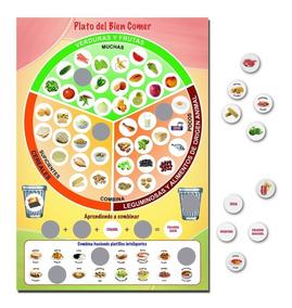 Paquete De 5 Juegos Platos Clasificador Del Buen Comer