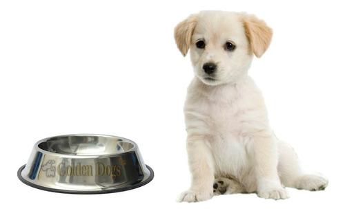plato comedero para perro chico de 8 oz acero inoxidable