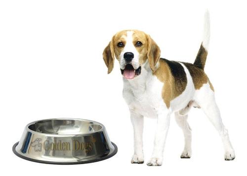 plato comedero para perro grande de acero inoxidable 64 oz