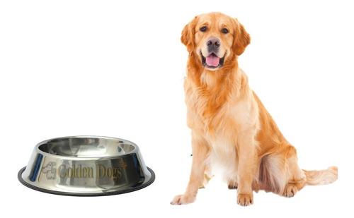 plato comedero para perro grande de acero inoxidable 96 oz