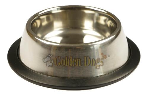 plato comedero para perro mediano de acero inoxidable 32 oz