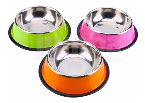 plato comedero perro acero color antivuelco 15cm