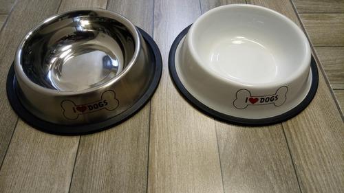 plato comedero perro acero inox antivuelco 23 cm