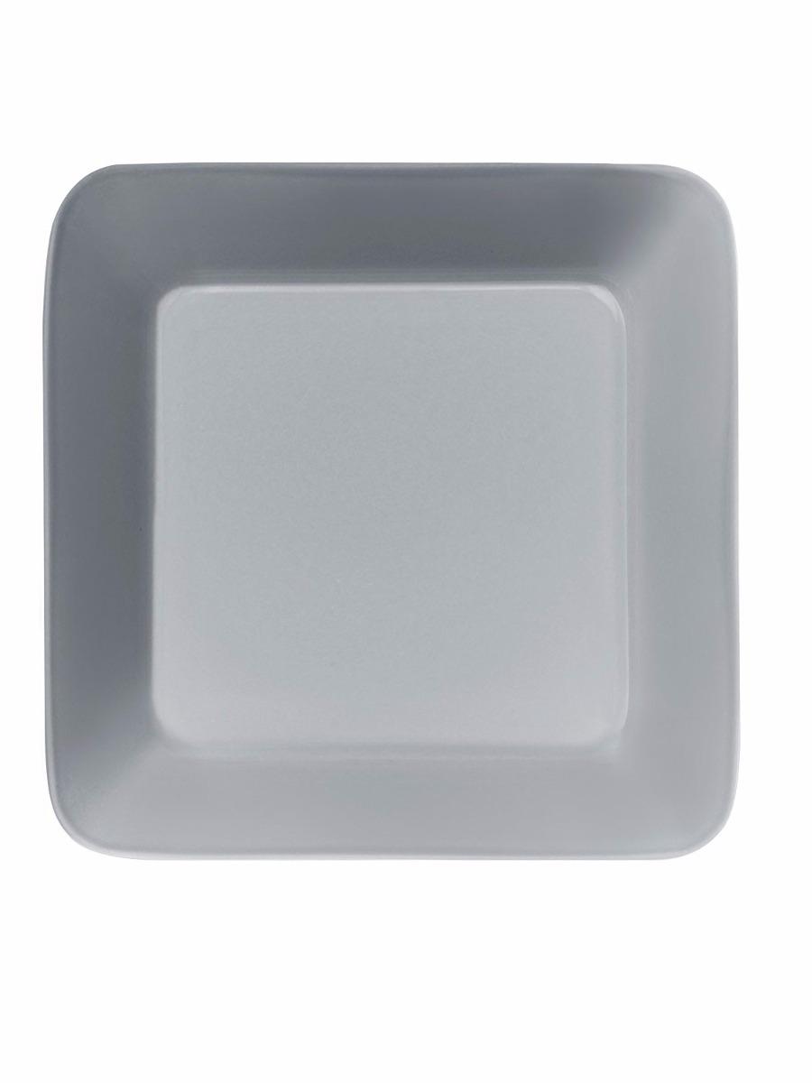 Plato cuadrado de 6 pulgadas vitro porcelana gris for Platos cuadrados de porcelana