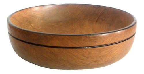 plato cuenco madera algarrobo locro 20 cm 4 cm profundidad