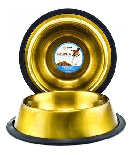 plato de acero inoxidable antiderrapante oro 32oz / 946ml