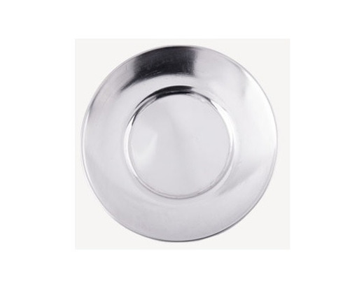 plato de acero inoxidable de 15 cms diametro mantequillero