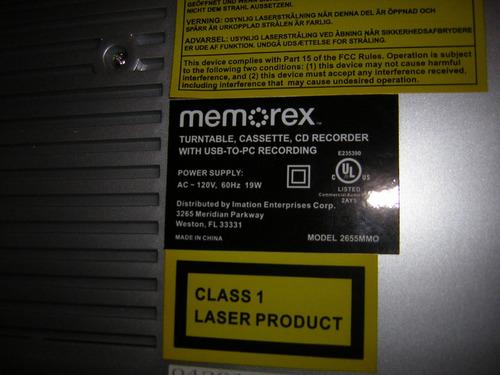 plato de acetato memorex cd recorder para pc